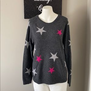 Philosophy Gray with Stars 100% Cashmere S…